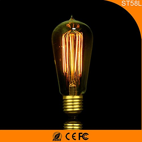 6-pack, E27, 220V Edison ST58, retro, dimmerabili, lampadine a filamento