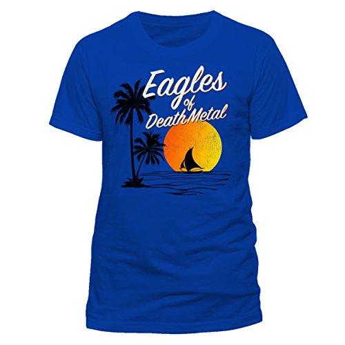 MUSIC Eagles of Death Metal-Sun Logo, T-Shirt Uomo, Blu (Royal Blue), Medium