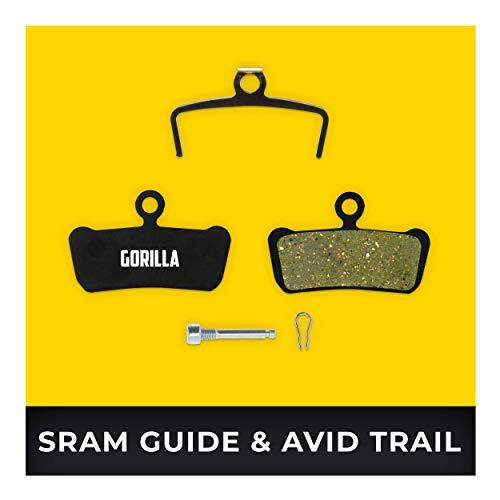 Avid Elixir Bremsbeläge Trail 7 9 & XO Trail & SRAM Guide R RS RSC Ultimate für Fahrrad Scheibenbremse I Hohe Bremsleistung I Langlebiger & Passgenauer Bremsbelag I Organischer Belag