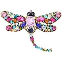 4ade8d14fa10 Gysad Broches Forma de libélula Broches de bisuteria baratos Elegante y encantador  Broches para ropa mujer