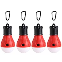 Lovestoryeu 4Pcs Camping Light Tent Hiking Fishing Emergency Light, Battery Powered Camping Equipment
