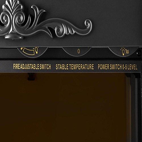 Klarstein-Grenoble–Chimenea-elctrica–Chimenea-Virtual–Simulacin-Llamas–2000-W-de-Rendimiento–Ventilador-conmutable–Calefactor-Aire-Caliente-Cuarzo–Termostato–Silenciosa–Negro