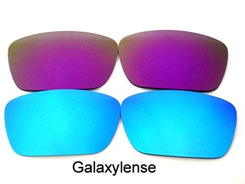 Galaxylense für Oakley Fuel Cell Ice Blau & Violett Farbe Polarisiert, S & H.2 Paar - Eis Blau & Violett, Regular