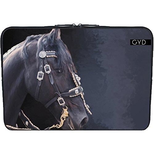 411kta40LjL UK BEST BUY #1Neoprene Sleeve NetBook / Laptop 11.6 inch   Friesian horse portrait by Gatterwe price Reviews uk