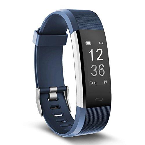 Fitness Armband, TOOBUR Aktivitätstracker Fitness Armbanduhr mit Herzfrequenz Pedometer Kalorien und Sleep Monitor, Wasserdicht Step Counter Armband für Android und IOS