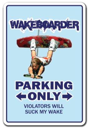 Wakeboarder Schild |-| Funny Home Décor für Garagen, der Wohnzimmer, Schlafzimmer, Büros | signmission Wake Board Surf Beach Hawaii Geschenk Surfen Surf Waves Funny Schild, Dekoration