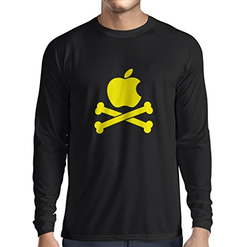 angen Ärmeln Lustiger Apfel und Knochen (Small Schwarz Gelb) ()