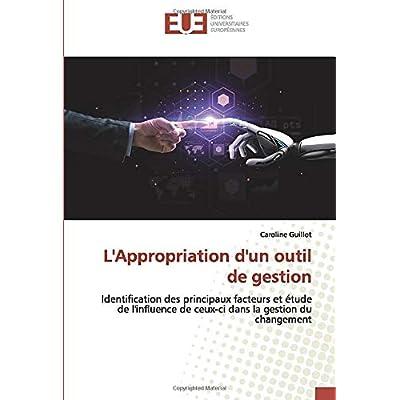 L'Appropriation d'un outil de gestion: Identification des principaux facteurs et étude de l'influence de ceux-ci dans la gestion du changement