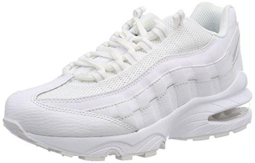 ecc9c4be37e46 Nike Unisex Kids' Air Max 95 (Gs) Low-Top Sneakers, White  (White/White-White-Pure Platinum 109), 3 UK