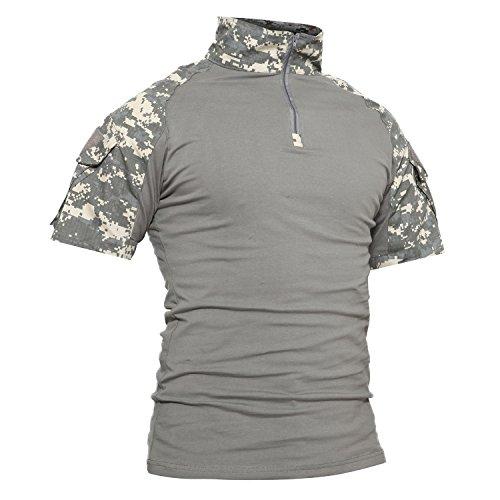 TACVASEN Camo Militar Hombres Camiseta Manga corta T-Shirt 9dda03400ce