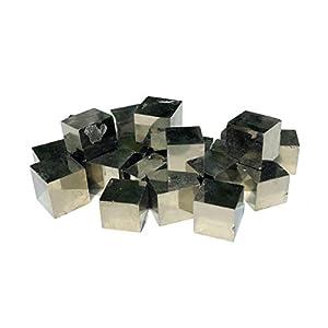 5 Pyritwürfel natürliche Würfel aus Pyrit Navajún Spanien   5-10 mm