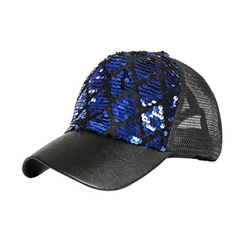 Syeytx Unisex Outdoor Pailletten Zwei-Farben Zebra Meerjungfrau Farbe Baseball Caps Verstellbarer Hut -