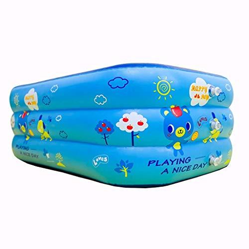 Badewanne, Pools elektrische Pumpe aufblasbare Kinderbecken Startseite Adult Baby Family Pool Kinder Eindickung Spiele Pool im Freien Blau Badewannen -Medium Tub