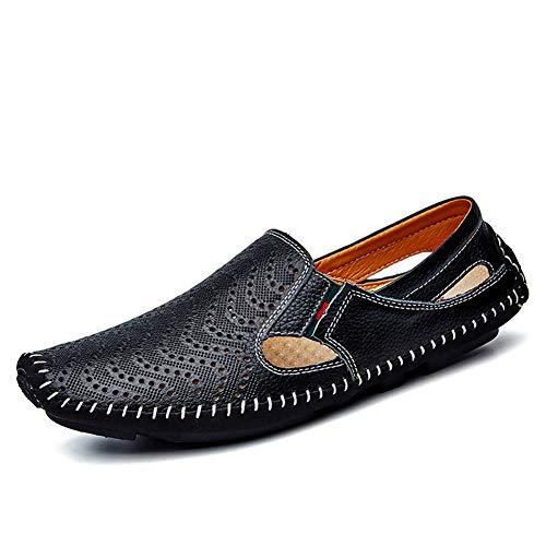 c643bce19690 TYX-TT Zapatos Lok Fu para Hombre, con Fondo Suave, Guisantes Huecos,  Zapatos de Moda Que conducen los Zapatos de Hombre Ocasionales,  Sandalias,A,40