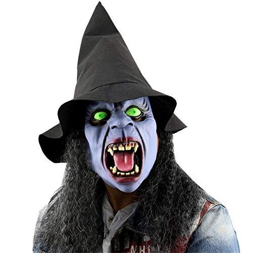 Macxy - Maskerade Masken Halloween gruselig Kinderspiel Latex Realistisch Verrückte Gummi Creepy Partei-Masken-Halloween-Kostüm [G] Maske (Aztekische Halloween Kostüm)