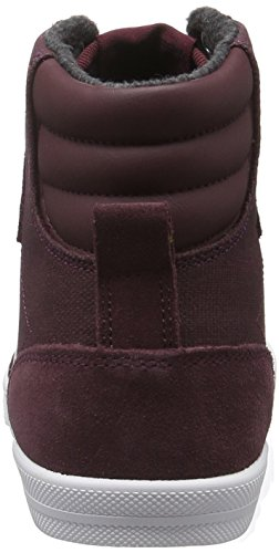 Hummel Slimmer Stadil Smooth Canvas, Sneakers Hautes Mixte Adulte Rouge (Sassafras)