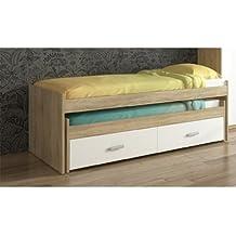 Compacto cama de 198.4 x 98 cm con cajonera en colores combinados