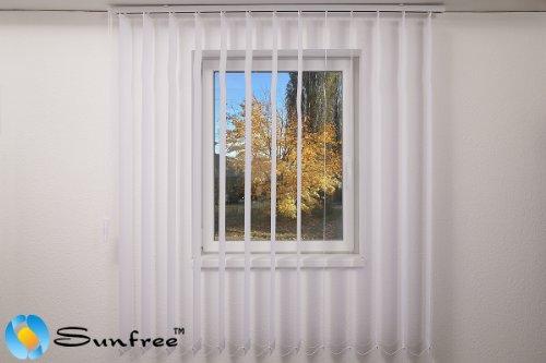 Vertikal Lamellen Vorhang / Vertikal Jalousie Vorhang / Vertikal Anlage Breite 150 x Höhe 250cm in weiß von Sunfree