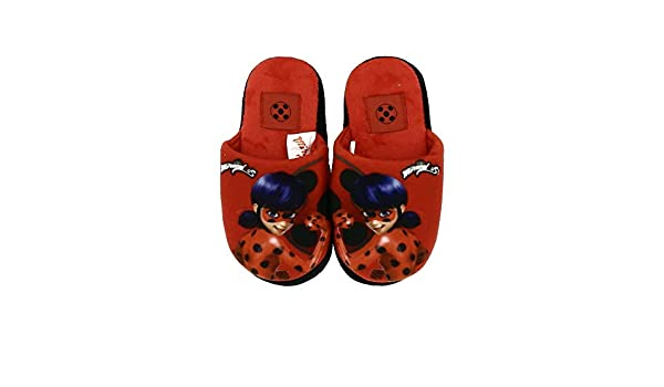 Ladybug Chaussons Miraculous Mules Semelle a Picots