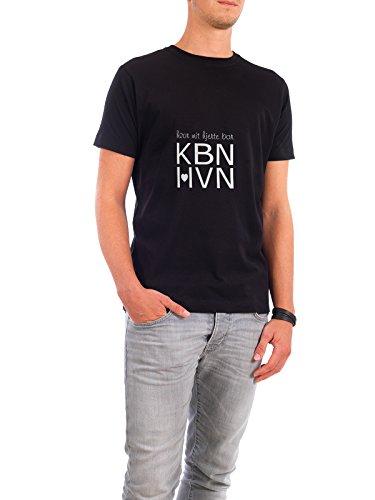 """Design T-Shirt Männer Continental Cotton """"København hvor mit hjerte bor"""" - stylisches Shirt Typografie Städte Städte / København von Wrona Grafisk Schwarz"""