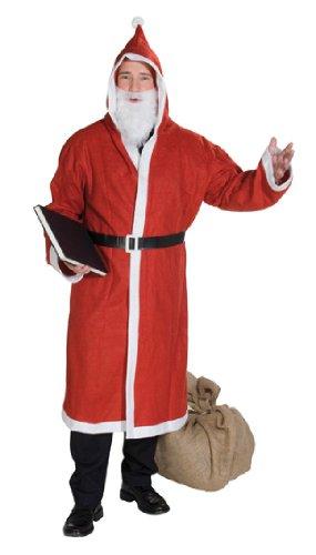 Kostüm Weihnachtsmann Rubies - Rubie's Herren Kostüm Weihnachtsmann Mantel Gürtel Bart Größe 48 bis 52