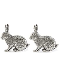 Diseño de conejo English Pewter Gemelos en caja regalo