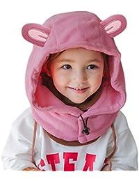 9760dc83a03b DORRISO Bonnet Enfant Casquette Protection du Cou Set Tête Encapuchonnée  Printemps Tomber Hiver Garçon Fille Chapeaux