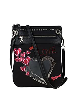 desigual femme sacs a bandouliere bando heart punk. Black Bedroom Furniture Sets. Home Design Ideas