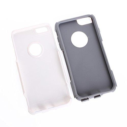 Phone case & Hülle Für IPhone 6 Plus / 6s Plus, Kunststoff Shell + TPU Kombi-Gehäuse ( Color : Magenta ) White