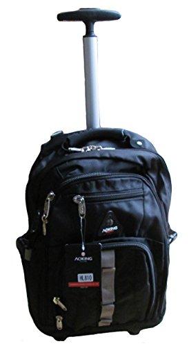 Aoking, zaino trolley da scuola in tela, nero/blu (Blu) - AK510