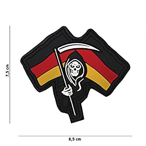 """Patch 3D PVC La Faucheuse Allemagne """"Reaper"""" / Cosplay / Airsoft / Camouflage …"""