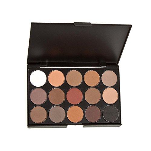 Vi.yo 15 Couleurs Brosse Set Waterproof Durable Palette de Fard à Paupière Matte Makeup Palette