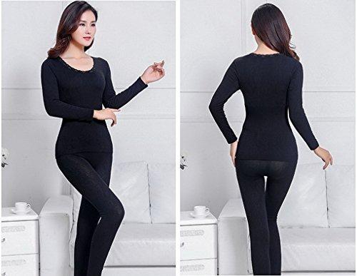 Evedaily - Coordinato abbigliamento termico - Donna Nero