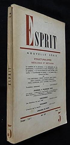 Esprit (mai 1967) : Structuralismes, idéologie et méthode
