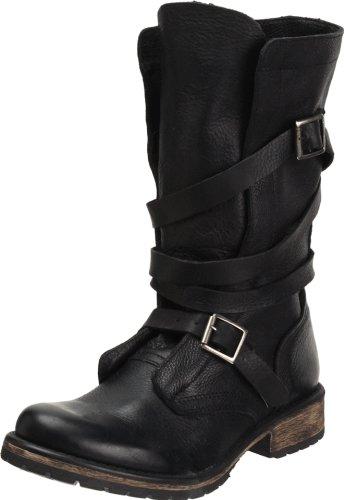 Steve Madden Banddit Damen, Schwarz - Black Leather - Größe: 36.5 (Sportschuhe Madden Steve)