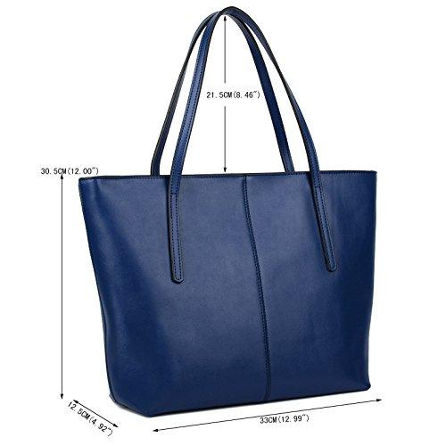 89cb5e8070 ... Yaluxe Donna Borse a mano per lavoro /scuola/ viaggio Vero Pelle  shopper Stile semplicemente ...