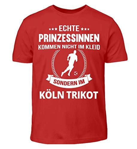 Köln - Kölnerin - Köln Fan, Köln Trikot, Geschenk Fußball - Kinder T-Shirt -7/8 (122/128)-Rot