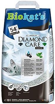 Biokat's Diamond Care Classic Litière pour Chat, Litière de Haute Qualité pour Chats avec Charbon Activé et Aloe Vera, 1x10 L