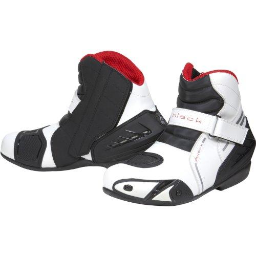 #Black Circuit – Motorrad-Stiefel kurz – Schuhe – knöchelhoch – Weiß – EU43 (UK9)#
