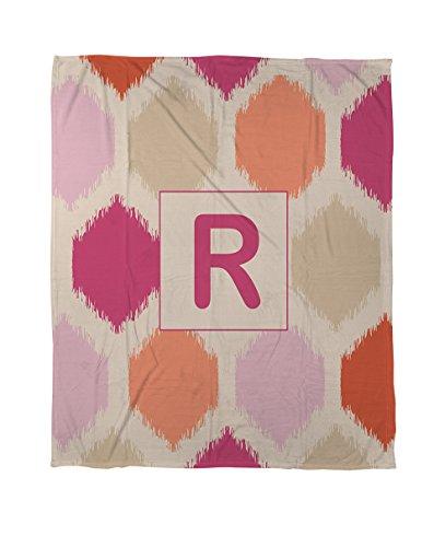 iter & Weavers Bettbezug, Queen/Full, Monogramm Buchstabe R, pink Batik (Tye-dye-bettwäsche Queen)