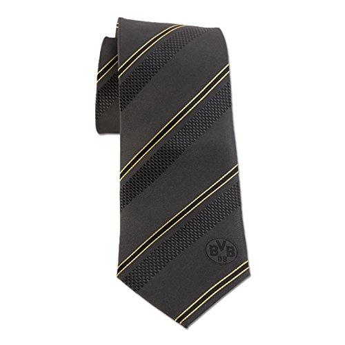 BVB BVB Seiden-Krawatte (breit) schwarz one size