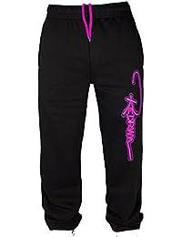 Redrum Jogginghose Trainingshose Sweatpants Sport Hose schwarz Modell Bak black magenta