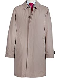Richard Paul Mens Beige Mac Raincoat With Detachable Lining