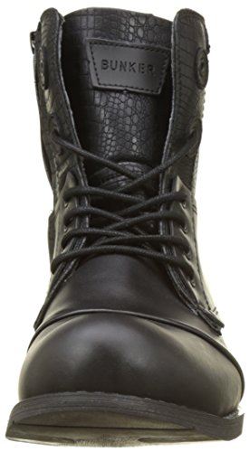 BUNKER Herren Tar Biker Boots Noir (Black)