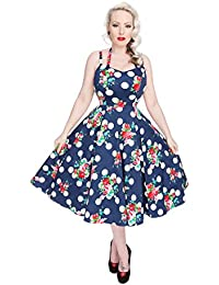 Hearts and Roses DOTTY FLORAL Vintage Twin Straps Petticoat Dress Kleid Rockabil