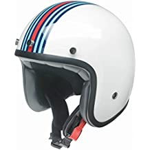 Kochmann–redbike RB de 768M Racing Color Blanco de color azul de color rojo, Jet Casco Moto Casco de casco Vespa Roller de casco, Redbike RB-768 M Racing, Weiß-Blau-Rot, M (57/58)