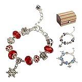 Charm Armband Kit DIY Schmuck Bastelset Handwerk Perle überzogen mit Silber Kette Schmuck Geschenk Set für Mädchen Teens