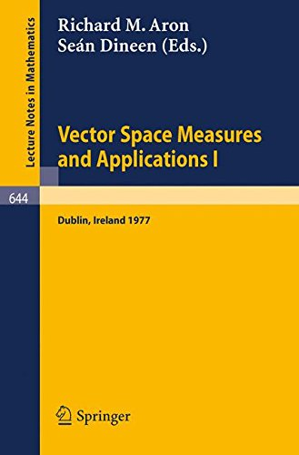 Vector Space Measures and Applications I: Proceedings, Dublin, 1977