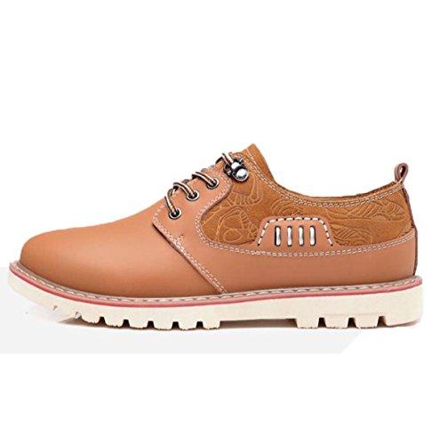 Casual Hombre Zapatos Cuero Cómodo Zapatos Zapatos Individuales Zapatos De Trabajo Zapatos Casuales Amarillento