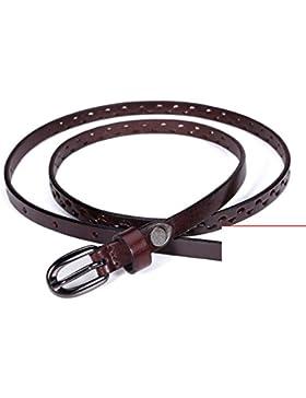 Ahueque Hacia Fuera De La Banda De La Cintura Decorativa/Joker Pin Hebilla Cinturón-B 100cm(39inch)